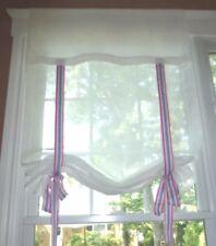 POTTERY BARN Kids Ribbon Drape Shade 44x36 NEW