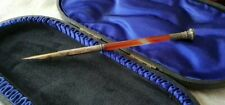 More details for lovely antique victorian agate stem dip pen with thistle intaglio tassie seal