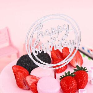Acrylic Home Happy Birthday Decor Baking Cake Topper Card Party  Decor Supply