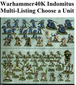 CHEAP Warhammer 40k Indomitus SPACE MARINES/NECRONS Set NOS Multi-Listing