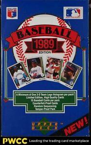 1989 Upper Deck Baseball Wax Box Low Series Sealed