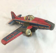 Vintage Tin Litho Toy Plane USAF 502 - Made In Japan - Missing Wing - 6.5 Long