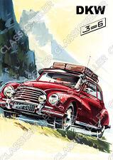 DKW 3=6 PKW F91 F93 Sonderklasse Auto Poster Plakat Bild Schild Affiche Car 3-6