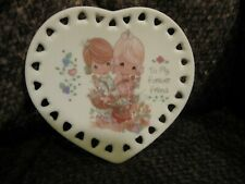 1993 Precious Moments To My Forever Friend decorative 3 inch plate with stand