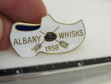 Albany Whisks Curling 1958 Award Pin Shoe Clog  (17D1)