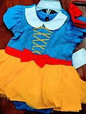 Disney Baby Disney Store Snow White Dress W/ Bow Headband  12-18M New w/ tags