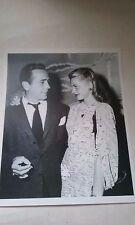 HUMPHREY BOGART & LAUREN BACALL GLOSSY BLACK & WHITE CANDID PHOTO 8 X 10