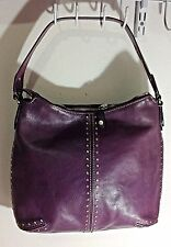 MIchael Kors Purple Leather Studded Large Shoulder Hobo bag