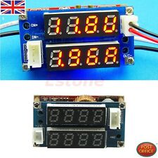 LED 5A Adjustable Power CC/CV Step-down Charge Module Driver Voltmeter Ammeter