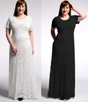 New Women Lady Long Maxi Lace Formal Summer Evening Party Plus Size Dress