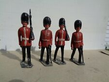 Johillco Timpo 1950's British Grenadier Guards officer lot of 4 lead toy soldier