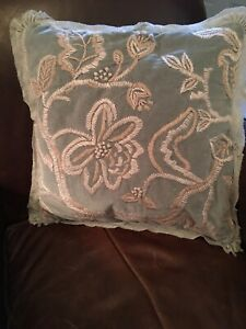 """Pottery Barn Gracie Embroidered 18"""" Pillow Cover"""