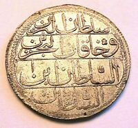 1774 (1187/1) Turkey Ottoman Piastre Choice AU Lustrous Pretty Silver World Coin