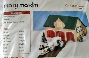 Mary Maxim CARRIAGE HOUSE 27811 Plastic Canvas Kit *NEW* FREE SHIPPING