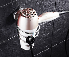 Stainless Steel Brushed Nickel Spiral Blow Stand Hair Holder Dryer Rack For Bath