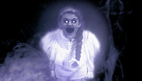 GHOSTLY GIRL HALLOWEEN WINDOW PROJECTION - REVISED Digital File via PAPER COUPON