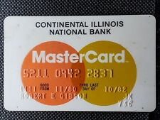 Continental Illinois National Bank MasterCard exp 1980♡free ship♡cc1476