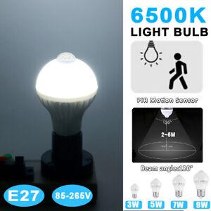 AC 85V-265V 6500K 240 lm 9W 120° E27 12 LED Globe Bulb Light Motion Sens