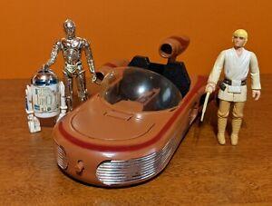 1978 KENNER GM Star Wars LAND SPEEDER Complete and Functional - 3 Figures