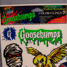 Goosebumps Color Clings Vintage 1996 Vinyl Window Decor Static Cling