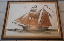 MARSHALL W. JOYCE - Original Ship Painting SIGNED Listed Massachusetts Artist