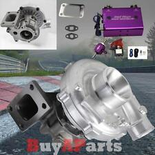 T04E T3/T4 .63 AR 50 Trim Turbo Charger + Dual Stage Boost Controller Purple