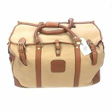 NWT $1.9k Ghurka Men's Canter No. 284 Leather Canvas Large Duffle Bag AUTHENTIC