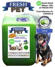 FRESH PET eco-Refill Concentrate makes 125L Cleaner Kills 99% Germs LIME