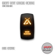 ORANGE Laser Etch LED Rocker Switch 5 PIN Dual Light 20A 12V ON OFF DEER HUNTER