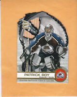2001 02 MCDONALDS PACIFIC PATRICK ROY GLOVE SIDE NET FUSIONS #1 AVALANCHE