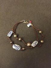 Sterling Balls Two Strands Bracelet Vintage Sterling Silver Blue Ceramic And