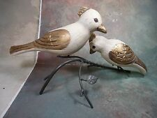 Hand carved wood birds animal