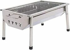 ISUMER Charcoal Grill Barbecue Portable BBQ - Stainless Steel Folding BBQ Kabab