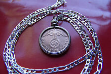 """1937-1940 German War Eagle Pendant on a 30"""" 925 Sterling Silver Chain"""