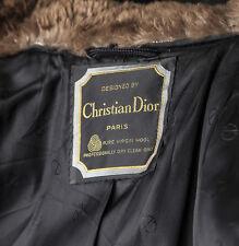 Christian Dior vintage Rockefeller FAB Abrigo-excepcional & Rare