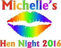 Hen Party Rainbow Font Iron On Transfer A5 Size