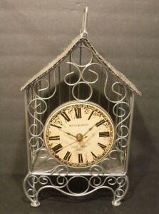Rivait & Giroux Saint Croix Paris Birdcage Clock Farmhouse Metal Design Roses