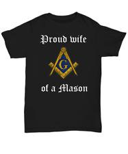 Masonic family shirt - Proud wife of a Mason - Freemasonry symbol gift apparel