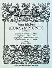 Franz Schubert: Four Symphonies in Full Score, Good Condition Book, , ISBN 97804