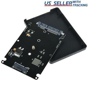 "M.2 NGFF SSD to 2.5"" SATA III Enclosure 7mm Drive Adapter 2242 2260 2280"