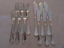 6 couverts à poisson métal argenté mod LXV LeMondial (fish forks & knives)