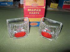 NOS Mopar 1953 Plymouth backup lens and reflector set