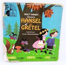 45 tours livre disque walt disney presente hansel et gretel