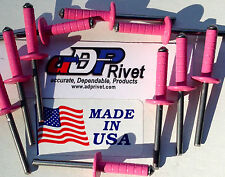 "Multi grip Extra long MEDIUM head 3/16""d x 5/8""grip. Buy 50 Pink Ultimate rivets"