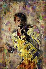 Freddie Mercury Of Queen Poster Pop Queen Tribute Freddie Art 12x18in Shipping