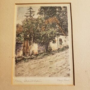 Vintage Signed Etching Or Woodcut