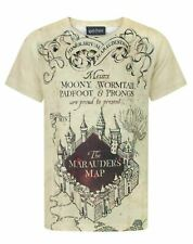 Harry Potter Marauders Map Sublimation White Boy's Tee T-Shirt