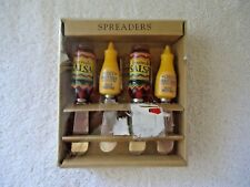 "Concepts 4 Set Of 4 "" NIB "" Salsa & Mustard Themed Spreader Knives "" GREAT SET """