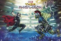 THOR RAGNAROK ~ BATTLE 24x36 MOVIE POSTER Chris Hemsworth Hulk NEW/ROLLED!