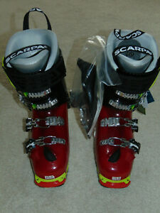 NWT Scarpa Freedom SL 120 Black/Red Italian Freeride Ski Boots  sz Mondo 25  NEW